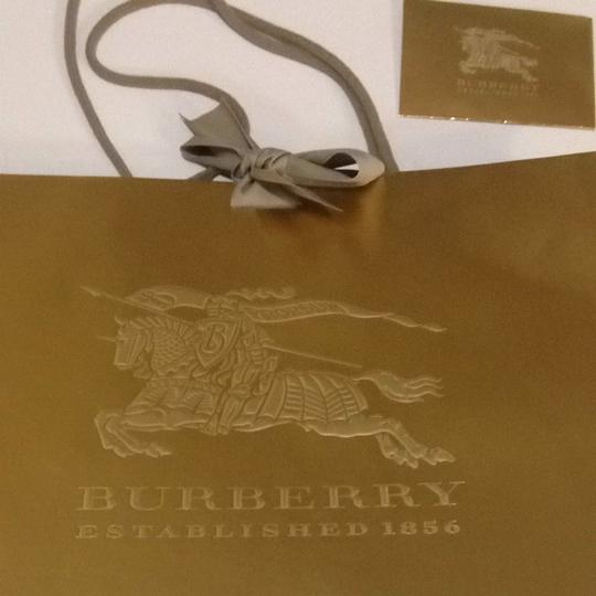 Burberry Burberry Gold Holiday Luxury Gift Bag Bow Ribbon 16.5x11.5x4.5