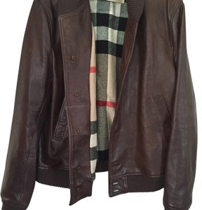 Burberry Brown Leather Jacket