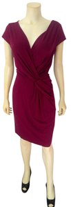Ann Taylor short dress dark pink Size 4 Stretch P2036 on Tradesy