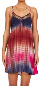 Rehab short dress multi-color Women's Tie Dye on Tradesy