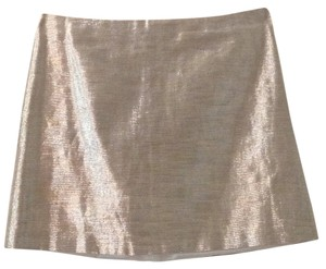 Alice + Olivia Mini Skirt Metallic Gold - Y053