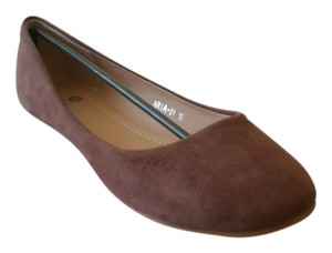 Riverberry Suede Ballet Flat Casual Brown Flats