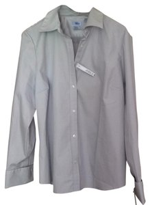 Izod Button Down Shirt Grey