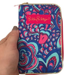 Lilly Pulitzer Wristlet in Blue, Pink, Gold