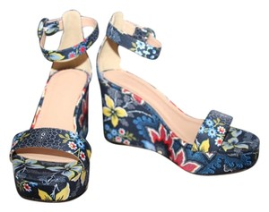 J.Crew Navy Multi Wedges