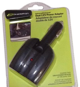 bracketron Bracketron Universal Dual 12v Car Power Adapter charger USB