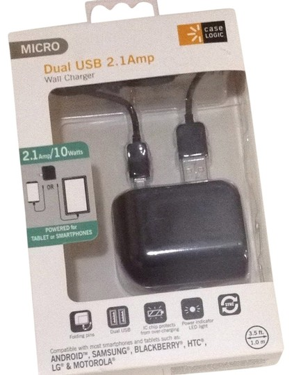 Case Logic Case Logic Micro Dual USB 2.1 Amp Wall Charger Android Samsung Blackberry Htc Lg Motorola