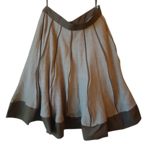 Anthropologie Wool Lined Full Brown Edme & Esyllte Skirt