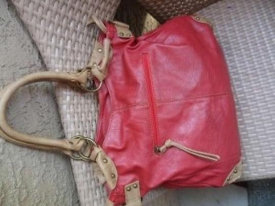 deux lux Tote in Red and Camel