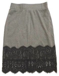 Maurices Skirt Gray with black lace trim