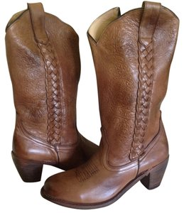 Bed Stü Leather Cowboy Tan Boots