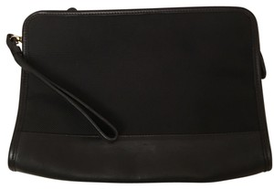 Coach 9839 Black Leather Trim Large Pouch