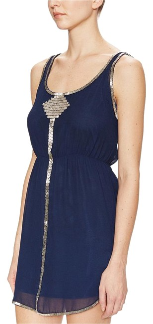 Preload https://img-static.tradesy.com/item/15039634/aryn-k-navy-beaded-embellished-scoop-back-mid-length-cocktail-dress-size-0-xs-0-3-650-650.jpg