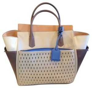 Reed Krakoff Tote in BEIGE, BROWN, BLUE