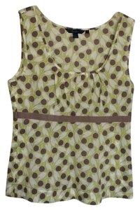 Boden Top Light green, white and taupe