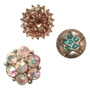 3 piece snap button charms
