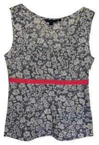 Boden Top Blue white and red