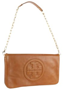 Tory Burch Bombe Reva Luggage Brown Clutch
