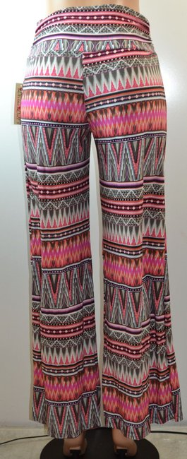 Divine Doll Flare Wide Leg Pants Pink