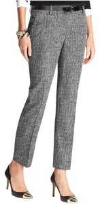 Ann Taylor Tweed Suit Trouser Pants Black and White