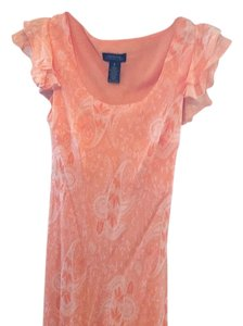 Orange and White Maxi Dress by Jones New York