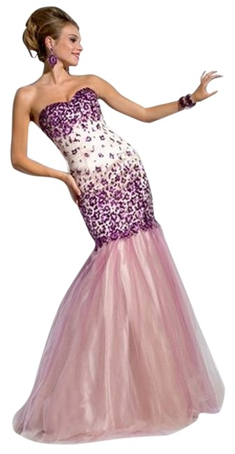 Party Time Formals New Mermaid Prom 6064 Size 4 Dress