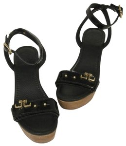 Tory Burch Caroline Miller Thora Eddie Black Wedges