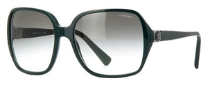 Chanel Chanel 5284 Oversized Square Sunglasses (Dark Green)