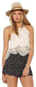 Urban Outfitters Kimchi Blue Lace Festival Boho White Halter Top