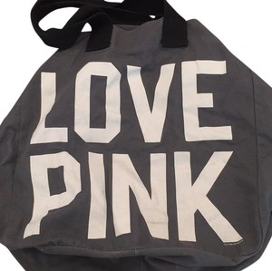 Victoria's Secret Grey/White/Black Beach Bag