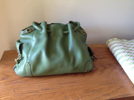 Cole Haan Leather Satchel in Green