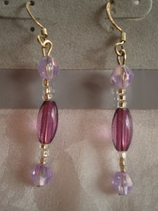 Other New Lavender bead earrings
