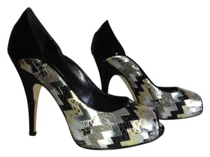 Giuseppe Zanotti Mettalic Patent Leather black, gold, silver Sandals