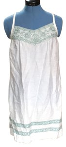 BCBGMAXAZRIA short dress White with green detal on Tradesy