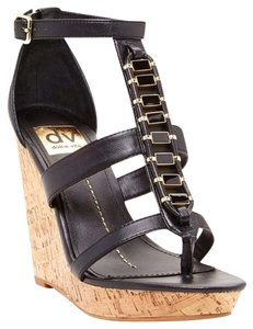 Dolce Vita Black/Gold Wedges