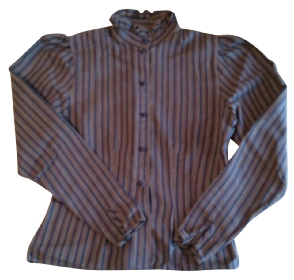 187805571e600c next Classic Vintage Striped Victorian Office Top Blue Brown White Image 0  ...