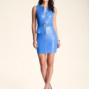 bebe Sleeveless Zipper Dress