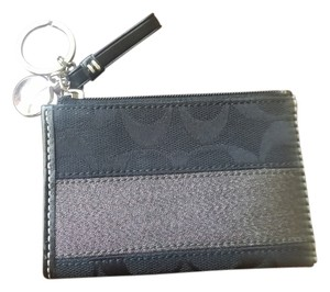 Coach COACH Signature Key Ring Coin Purse Credit cards