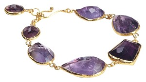Condemned to Be Free Gold Vermeil Amethyst Rock Candy Eternity Bracelet