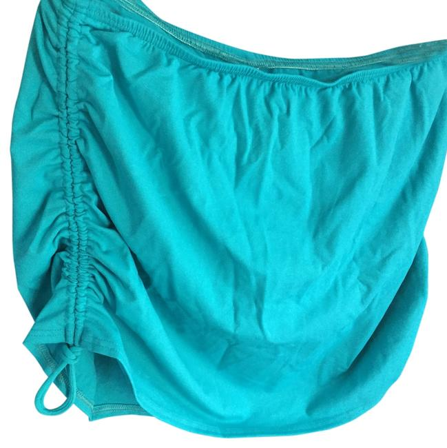 Item - Turquoise Skirt Ruched Sides Bottom Only Tankini Size 12 (L)