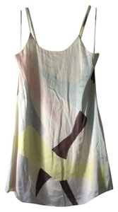 Alice + Olivia Silk Slip Slip Watercolor + Silk Mini Dress