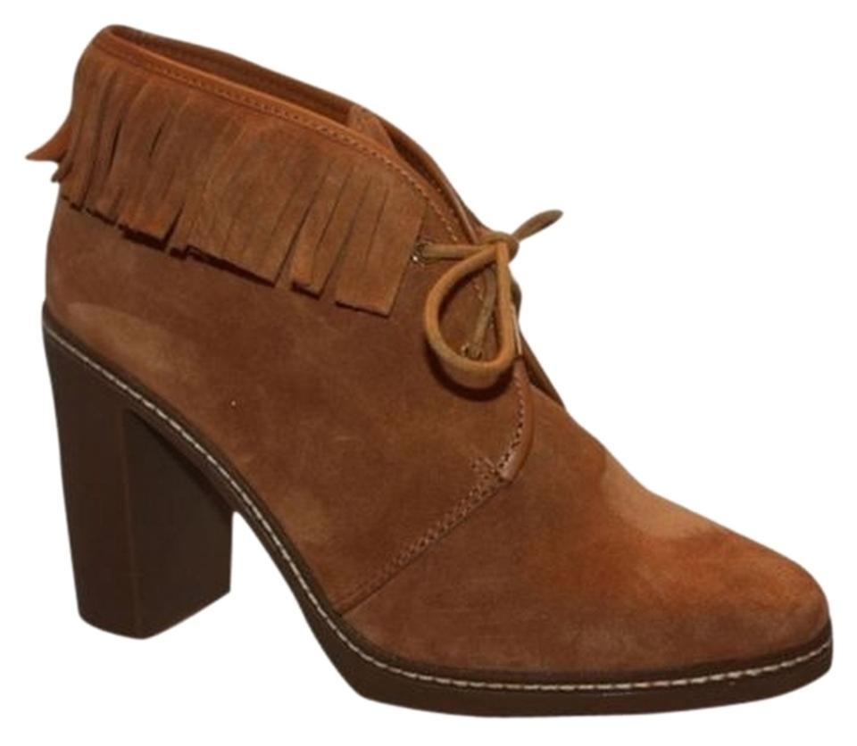 Tory Fringe Burch Tan Hilary 100mm Fringe Tory Ankle Havana Suede Leather Boots/Booties 343657