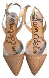 Sam Edelman Pointed Toe Nude and white Flats