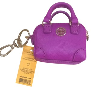 Tory Burch Tory Burch Saffiano Leather Middy Satchel Key Fob Coin Purse