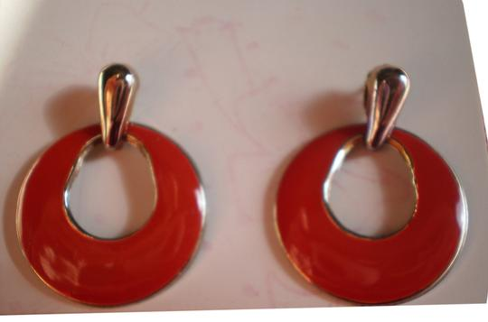 Preload https://item5.tradesy.com/images/like-new-red-and-goldtone-pierced-earrings-150439-0-1.jpg?width=440&height=440