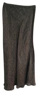 CP Shades Casual Cotton Maxi Skirt Gray Black Beige