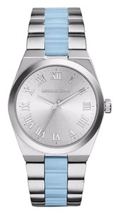 Michael Kors NWT Michael Kors Women's Channing Silver Dial Stainless Steel and Chambray Aceta