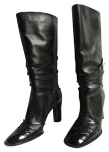 Moschino Classic Style Monogram Black Boots