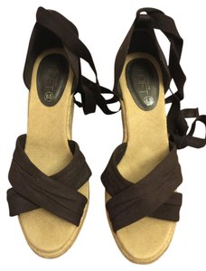 Ann Taylor LOFT Espadrille Dark brown Wedges