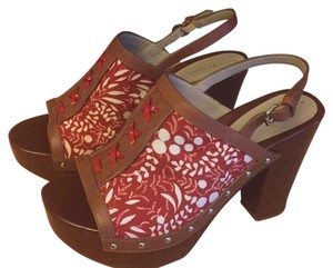 Marc by Marc Jacobs Clog Wood Leather red Sandals